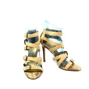 Carlos Santana Tan Radical Buckle Sandals